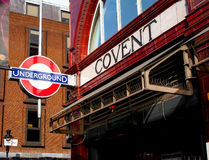 Underground train entrance in London Royalty Free Stock Photography