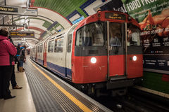 Underground Train. A London underground train in London, England Royalty Free Stock Photos