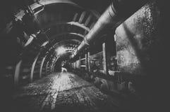 Underground train in mine Stock Image