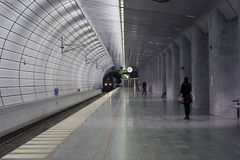 Underground train station Stock Image