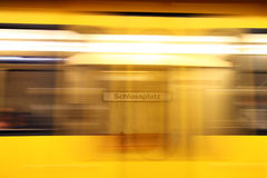Underground train station Royalty Free Stock Image