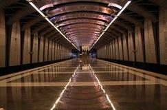 Underground train station Stock Photography