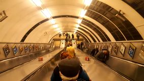 Underground train station. London subway metro royalty free stock photo