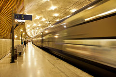 Underground train station in Monaco. Stock Photos