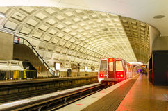 Underground Train in Station Royalty Free Stock Photos