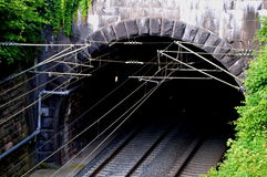 Underground train tunnels Royalty Free Stock Photos