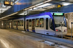 Underground Tram Royalty Free Stock Images