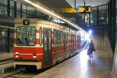 Underground Tram. Station of The Hague, Netherlands stock photo