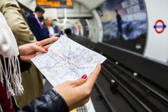 Underground transport orientation Stock Photography