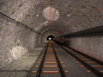 Underground trolley haulage Royalty Free Stock Photo