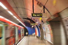 Underground tube station in London Stock Images