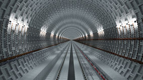 Underground tunnel. 3d underground tunnel infinite perspective Royalty Free Stock Image