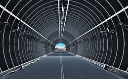 Tunnel royalty free illustration