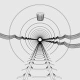 Underground tunnel. Cartoon image of underground tunnel Stock Photography