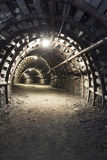 Underground tunnel in the coal mine Royalty Free Stock Photography