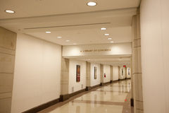 The underground tunnel connecting the U.S. Capitol Building Royalty Free Stock Photos
