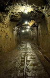 An underground tunnel in a copper mine Stock Image