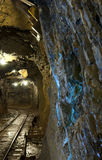 An underground tunnel in a copper mine Stock Photography