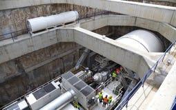 Underground tunnel drilling machine huge Stock Images