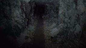 Underground tunnel. The entrance to the underground tunnel stock video