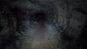 Underground tunnel. The entrance to the underground tunnel stock video footage