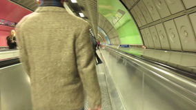 Underground tunnel in London stock video footage