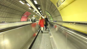 Underground tunnel in London stock video