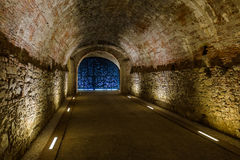 Underground tunnel in Lucca Italia. Architecture background Stock Image