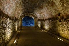 Underground tunnel in Lucca Italia Stock Image