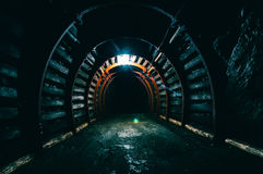 Underground Tunnel in the Mine Stock Photo
