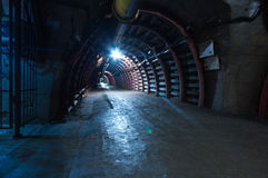 Underground Tunnel in the Mine, Royalty Free Stock Photo