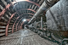Underground Tunnel in the Mine, Royalty Free Stock Image