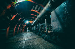 Underground Tunnel in the Mine Royalty Free Stock Photo