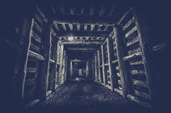 Underground Tunnel in the Mine, Royalty Free Stock Photography