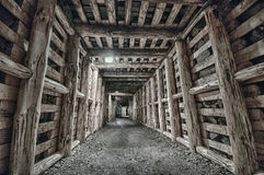 Underground Tunnel in the Mine Royalty Free Stock Photos