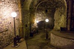 Underground tunnel at Peter The Great Sea Fortress, Tallinn, Estonia.  Stock Photography