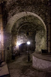 Underground tunnel at Peter The Great Sea Fortress, Tallinn, Estonia.  Royalty Free Stock Photography