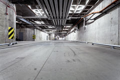 Underground tunnel road construction Royalty Free Stock Photo