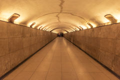 Underground tunnel with round ceiling Stock Photos