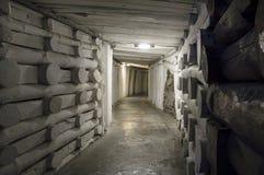 Underground tunnel in the Salt Mine Stock Image