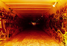 Underground tunnel to hell Royalty Free Stock Photography
