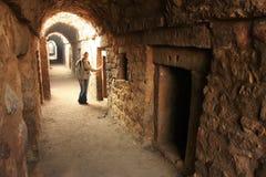 Underground tunnel, Tughlaqabad Fort, New Delhi Stock Photo