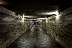 Underground tunnels. Image of infrastructure, underground tunnels Stock Photo