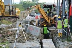 Underground utilities trenches. Stock Photography