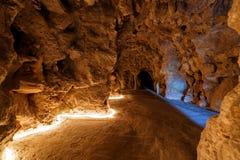 An underground walkway at the Quinta da Regaleira Stock Photo
