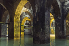 Underground. Waterpool in Israel, Ramle Royalty Free Stock Photos