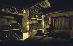 Underground wine cellar Royalty Free Stock Photo
