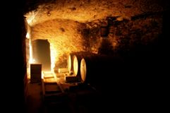 Underground Wine Cellar Stock Image