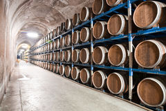 Underground wine cellar Royalty Free Stock Image