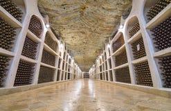 Underground wine cellars storage royalty free stock image